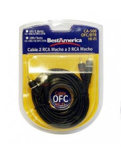 Cable audio RCA a RCA 1,8 metros CA5006BTR Best America