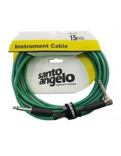Cable instrumento 4.5 metros Angel L Crystal Verde Santo Angelo