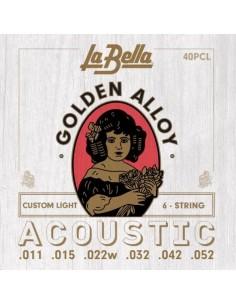 Encordado Guitarra Acustica 40PCL La Bella