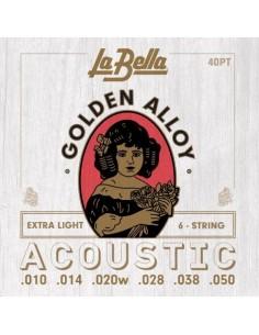 Encordado Guitarra Acustica 40PT La Bella