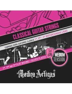 Encordado Guitarra Clasica 470 entorchada Medina Artigas