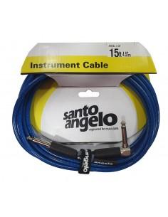 Cable instrumento 4.5 metros Angel L Crystal Azul Santo Angelo