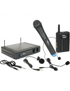 Microfono Inalambrico Mano, Lavalier o Cintillo UHF271 SKP