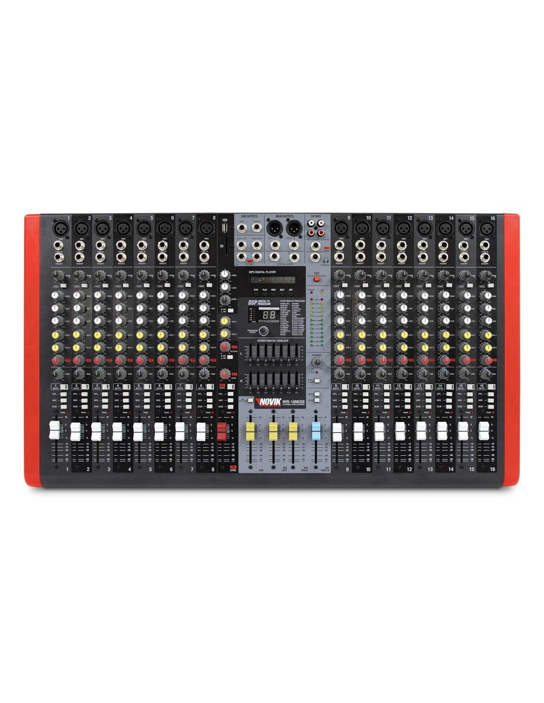 Mezclador NVK16M-USB Novik Neo
