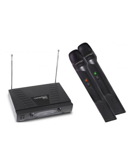 Microfono Inalambrico doble VHF PCA609 Carver Pro