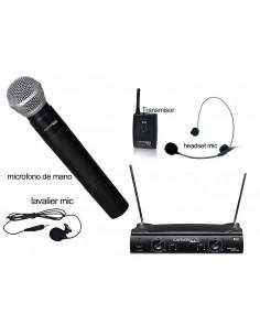 Microfono Inalambrico Mano + Cintillo o Solapa MVI1010 Carver Pro