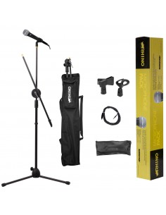 Pack Microfono Shure SV100 con Atril Rhino