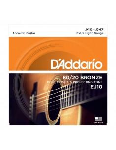 Encordado Guitarra Acustica EJ10 D´addario
