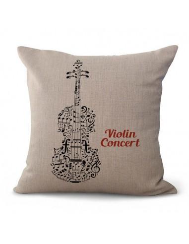 Funda almohada violin Musicdesing