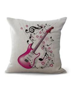 Funda Almohada Pink Guitar Musicdesing