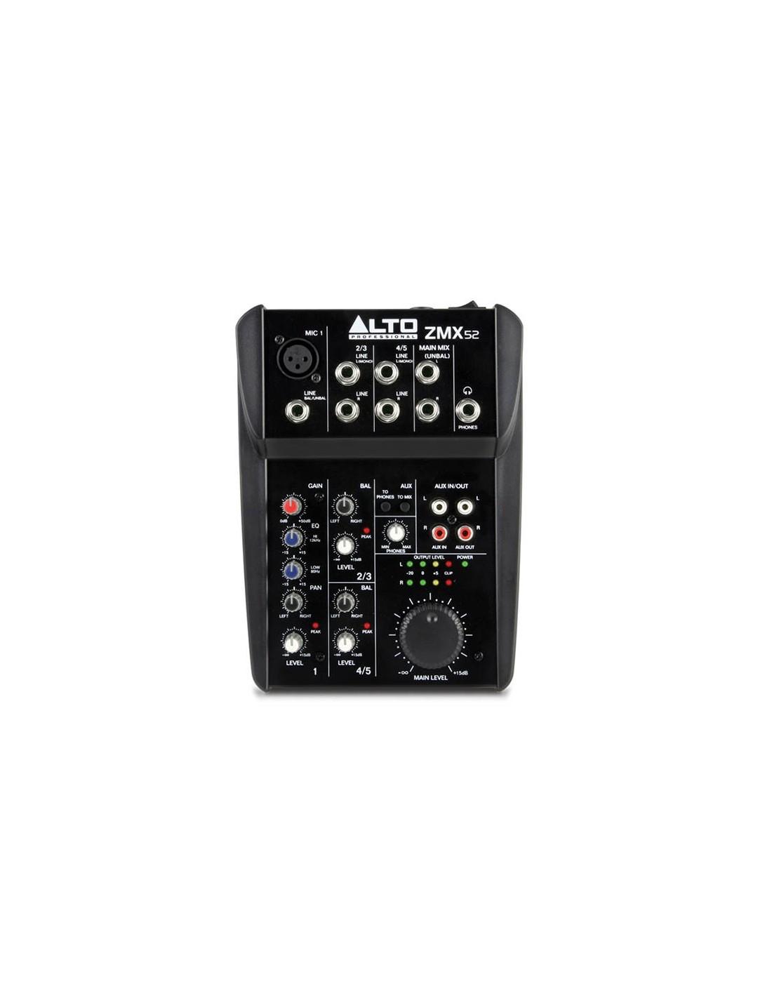 Mezclador ZMX52 Alto Professional