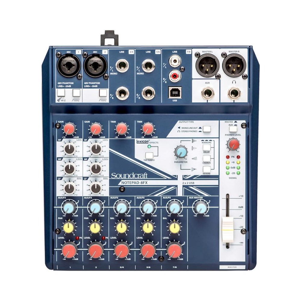 Mezclador Notepad 8FX Soundcraft