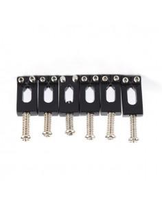 Set de 6 carros negros para puente de guitarra electrica Musicparts